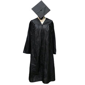 NWT Authentic Graduation Gown Robe Costume Black